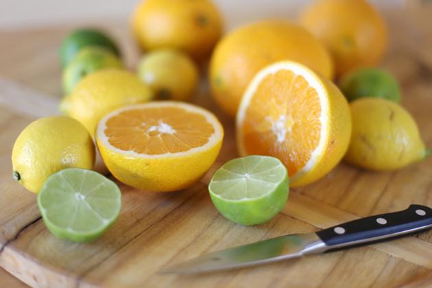 limes oranges