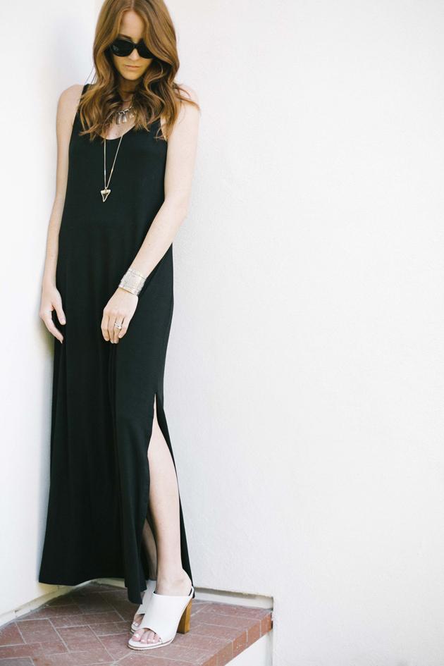 The Simple Black Maxi Dress