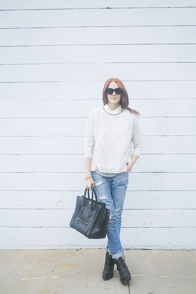 White and Warren Sweater