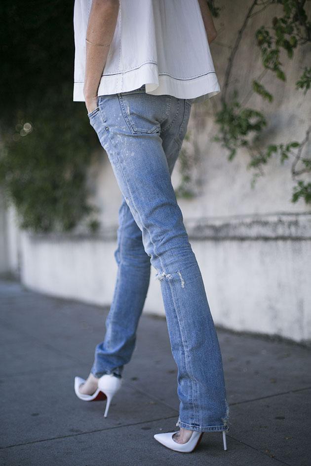 Blue Jeans White Shirt