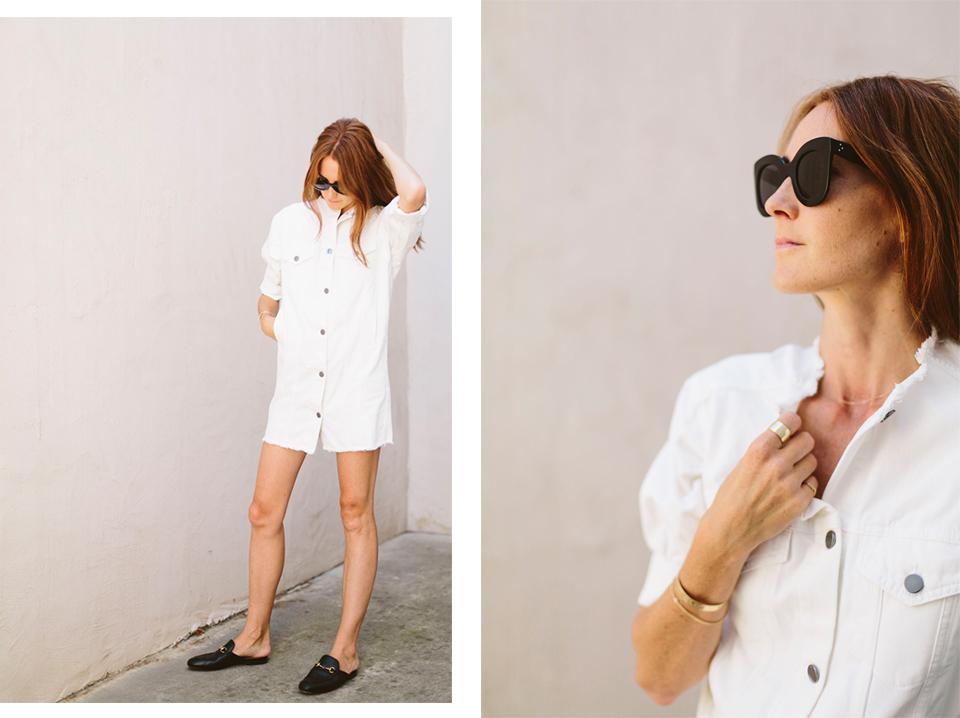white-denim-dress
